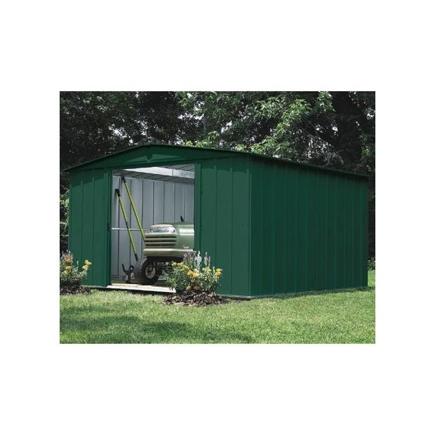 abri de jardin en acier galvanis vert 9 3 m plantes et jardins. Black Bedroom Furniture Sets. Home Design Ideas