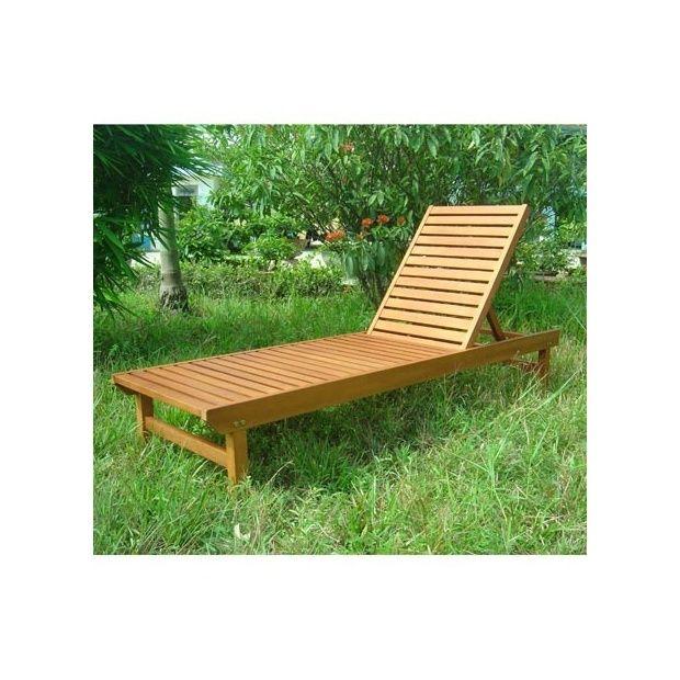 bain de soleil avec dossier r glable en eucalyptus fsc dream garden plantes et jardins. Black Bedroom Furniture Sets. Home Design Ideas
