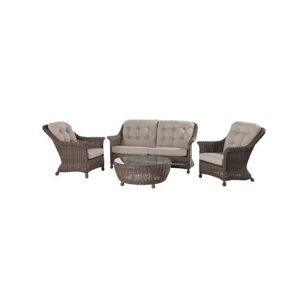 salon de jardin madoera canap 2 places et demi table basse 2 fauteuils colonial. Black Bedroom Furniture Sets. Home Design Ideas