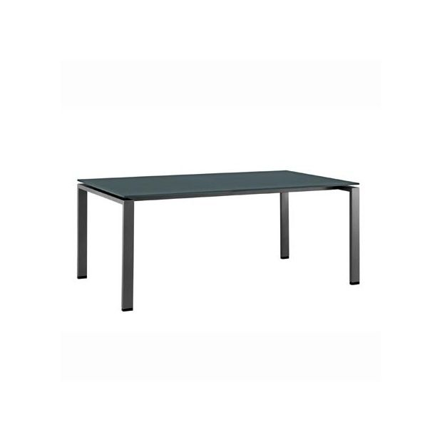 Table hpl 220 x 100 cm gris kettler plantes et jardins for Table exterieur kettler