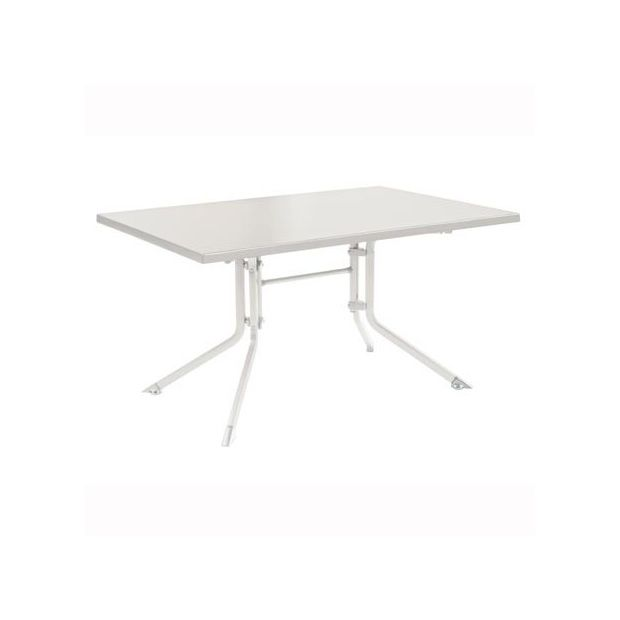 table pliante 115 x 70 x 74 cm blanc kettler plantes et jardins. Black Bedroom Furniture Sets. Home Design Ideas