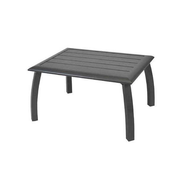 table basse azuro en aluminium 80 x 60 x 45 cm grise plantes et jardins. Black Bedroom Furniture Sets. Home Design Ideas
