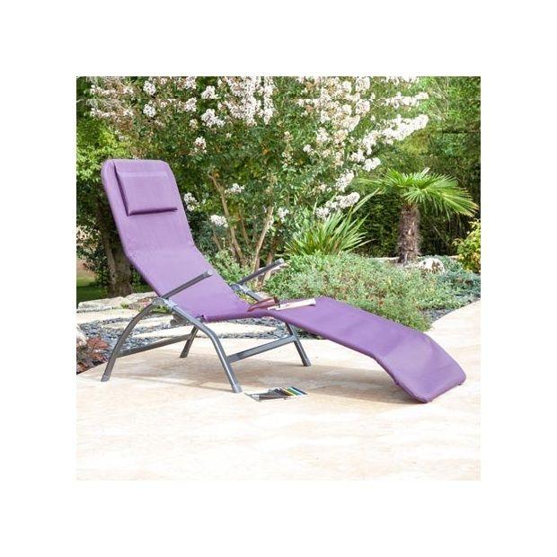 lot de 2 bains de soleil pliants superelaxer aluminium textil ne cassis plantes et jardins. Black Bedroom Furniture Sets. Home Design Ideas