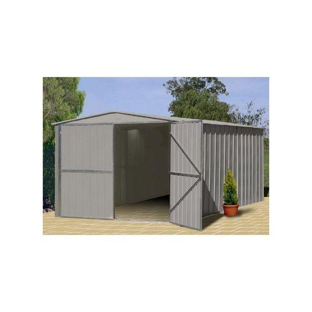 garage en m tal de 18 05 m hors tout treco plantes et. Black Bedroom Furniture Sets. Home Design Ideas