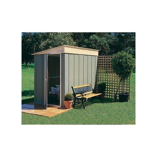 abri de jardin adossable monopente en m tal 3 78 m hors tout treco plantes et jardins. Black Bedroom Furniture Sets. Home Design Ideas