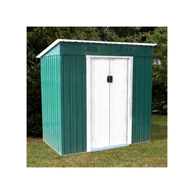remise de jardin en m tal de 3 10m2 lams vert plantes et jardins. Black Bedroom Furniture Sets. Home Design Ideas