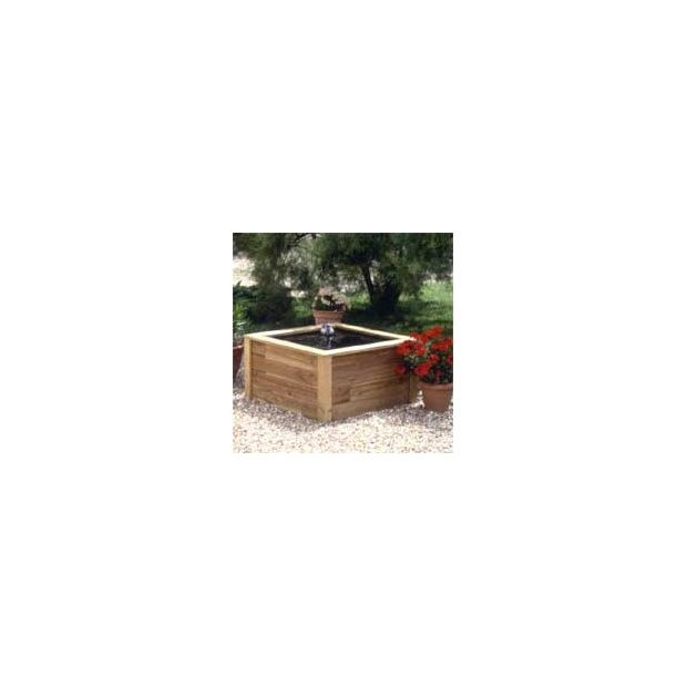 Bassin de terrasse en bois petit mod le plantes et jardins for Bassin de jardin en bois