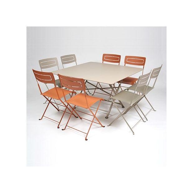 Salon De Jardin Fermob Table L128 L128 Cm 8 Chaises Plantes Et Jardins