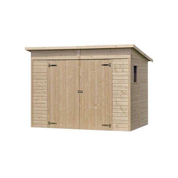 abri de jardin onno m hors tout bois 13 mm avec. Black Bedroom Furniture Sets. Home Design Ideas
