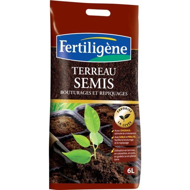 terreau semis 6l fertilig ne plantes et jardins. Black Bedroom Furniture Sets. Home Design Ideas