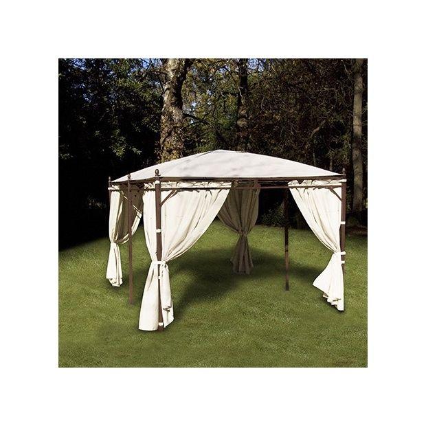 option rideaux 180gr pour tonnelle 3x4 4 pentes beige. Black Bedroom Furniture Sets. Home Design Ideas