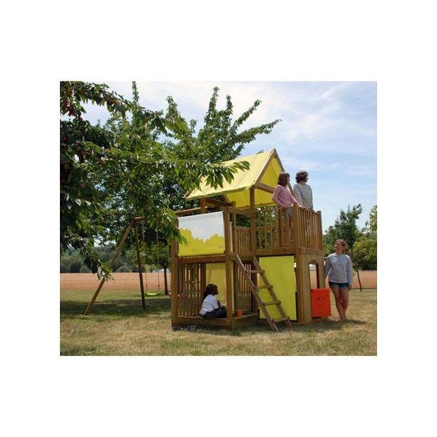 portique station de jeux chantilly avec balan oire. Black Bedroom Furniture Sets. Home Design Ideas