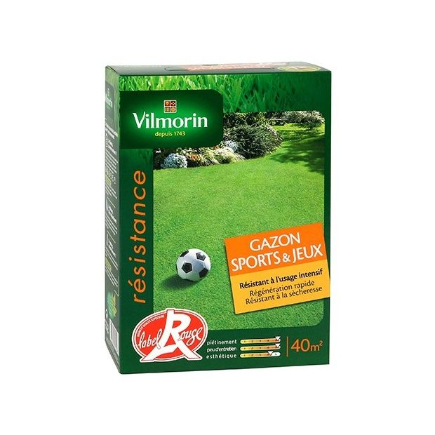 Gazon sports et jeux 1kg plantes et jardins - Gazon sport et jeux ...