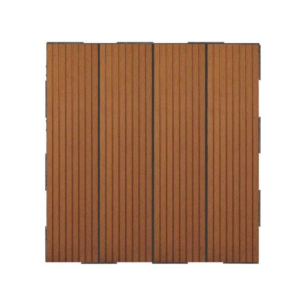 Dalles clipsables composite brun lot de 4 snap and go plantes et jardins - Dalles composite clipsables ...