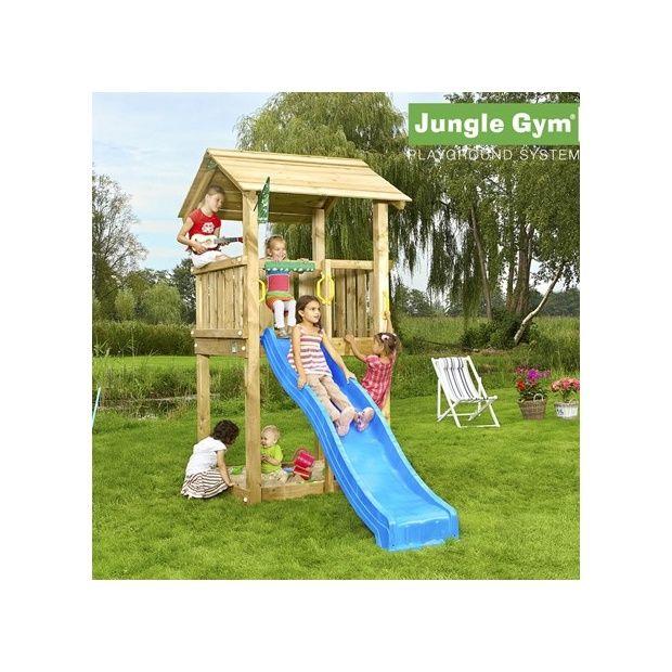 tour de jeux bois pour enfant jungle gym casa avec toboggan plantes et jardins. Black Bedroom Furniture Sets. Home Design Ideas