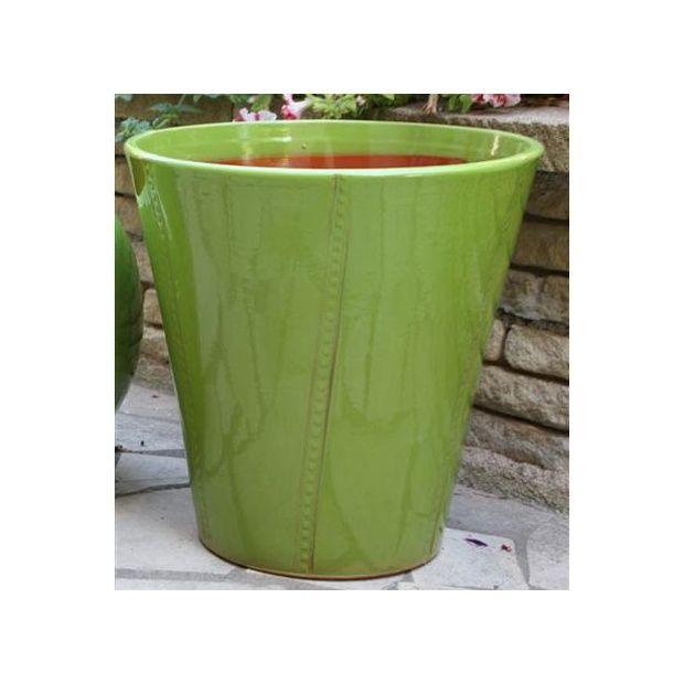 Pot en terre cuite maill e palerme chlorophyle d40 h47 plantes et ja - Daubiere en terre cuite ...