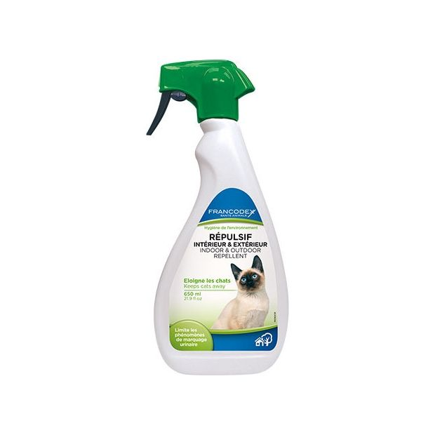 R pulsif int rieur ext rieur pour chats 650ml plantes - Repulsif chat naturel exterieur ...