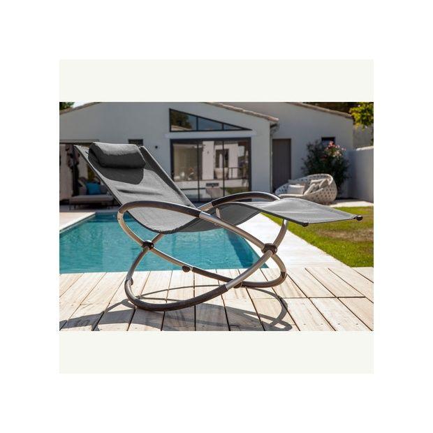 bain de soleil bascule cercle gris plantes et jardins. Black Bedroom Furniture Sets. Home Design Ideas