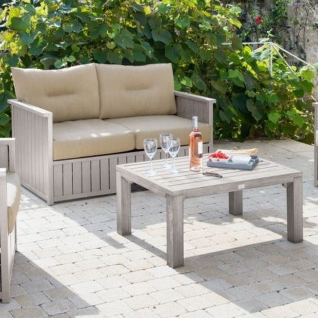 table basse canap milano aluminium greige plantes et jardins. Black Bedroom Furniture Sets. Home Design Ideas
