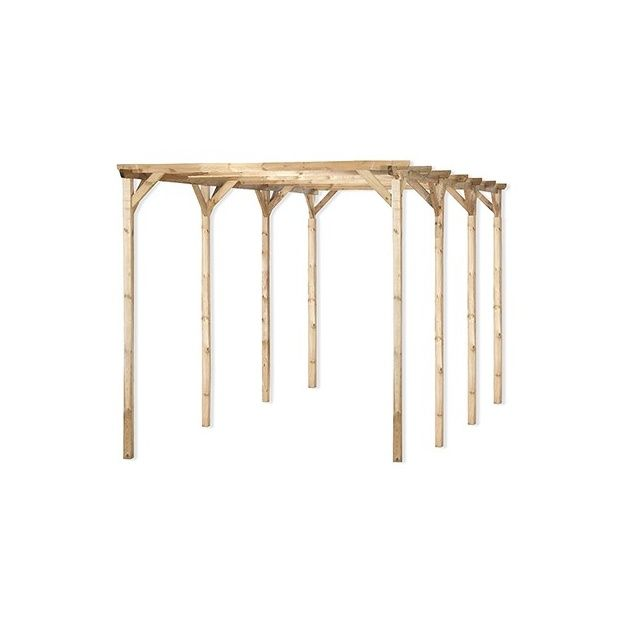 carport en bois trait grande longueur vert tilleul 300. Black Bedroom Furniture Sets. Home Design Ideas