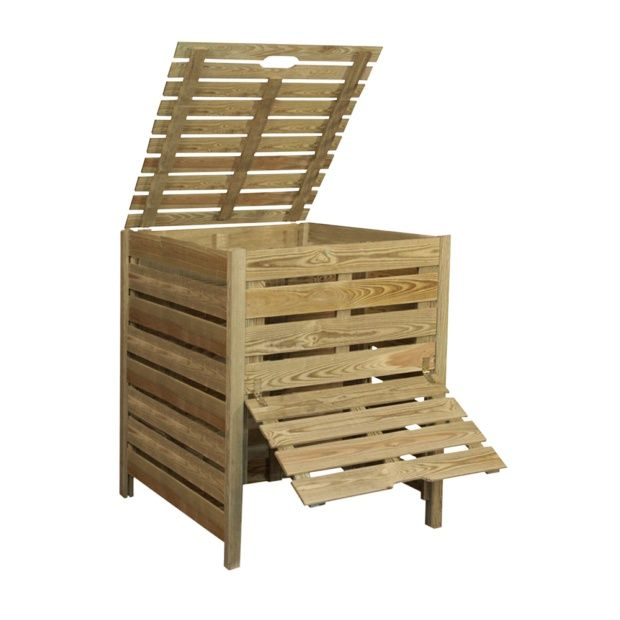 composteur bois 800 l jardipolys plantes et jardins. Black Bedroom Furniture Sets. Home Design Ideas