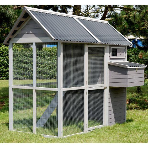 poulailler medium square 4 6 poules plantes et jardins. Black Bedroom Furniture Sets. Home Design Ideas
