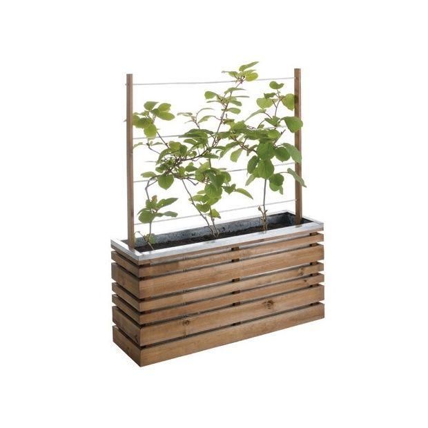 bac carr 100 avec treillis ligne z plantes et jardins. Black Bedroom Furniture Sets. Home Design Ideas