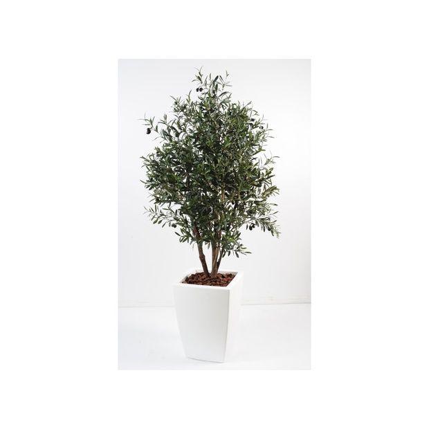 Olivier buisson h180 cm tronc naturel feuillage for Buisson synthetique