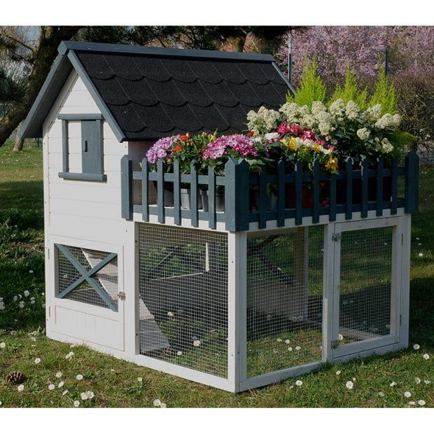 Poulailler oregon avec terrasse 3 4 poules plantes et for Amenagement interieur poulailler bois
