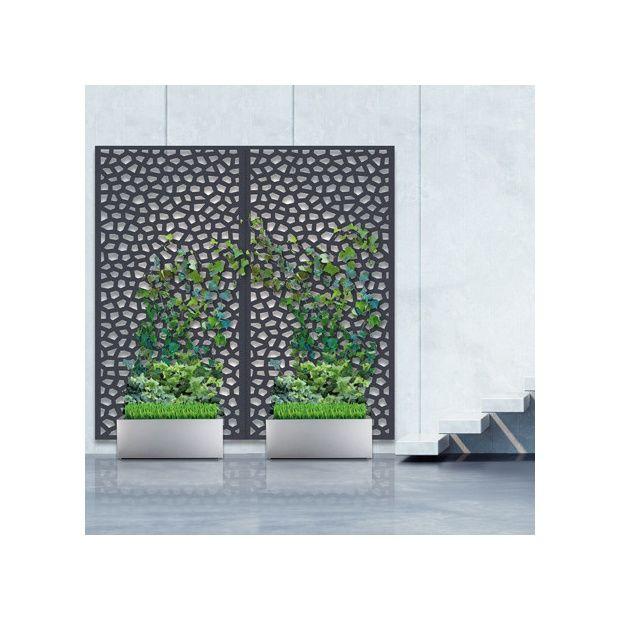 Pack panneau d coratif mosa c vertical suppl mentaire sur sol meuble 1m x 2m nortene - Panneau decoratif jardin metal ...
