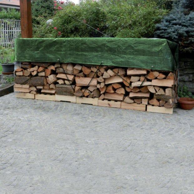 B che tas de bois 1 5x6 m avec oeillets gamm vert plantes et jardins - Comment stocker bois de chauffage ...