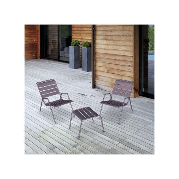 salon de jardin fermob monceau 1 table basse 2 fauteuils plantes et jardins. Black Bedroom Furniture Sets. Home Design Ideas