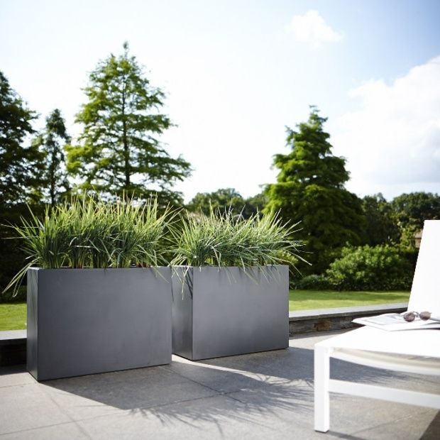 jardini re muret elho pure soft brick l80 h59 cm anthracite plantes et jardins. Black Bedroom Furniture Sets. Home Design Ideas