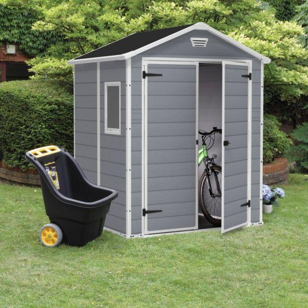 petit abri de jardin r sine keter 2 81 m ep 16 mm premium 65 plantes et jardins. Black Bedroom Furniture Sets. Home Design Ideas