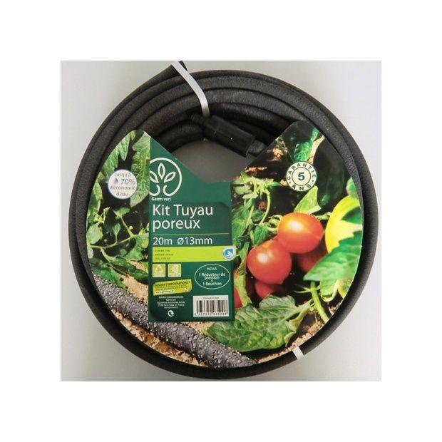 Kit tuyau poreux 20m diam tre 13mm gamm vert plantes et jardins - Tuyau arrosage poreux ...
