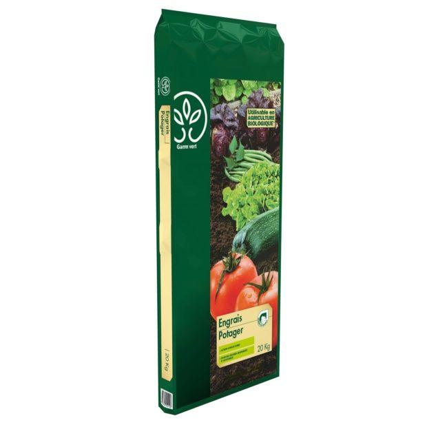 engrais potager 20 kg - gamm vert - plantes et jardins