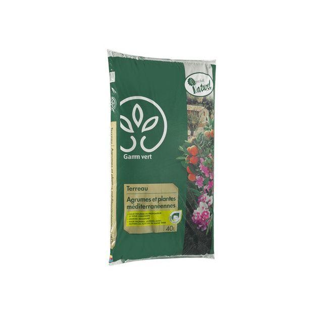 terreau agrumes et plantes méditerranéennes 40 l - gamm vert
