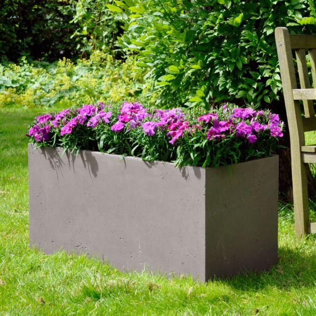 bac fleurs fibre de terre clayfibre l100 h50 cm taupe plantes et jardins. Black Bedroom Furniture Sets. Home Design Ideas