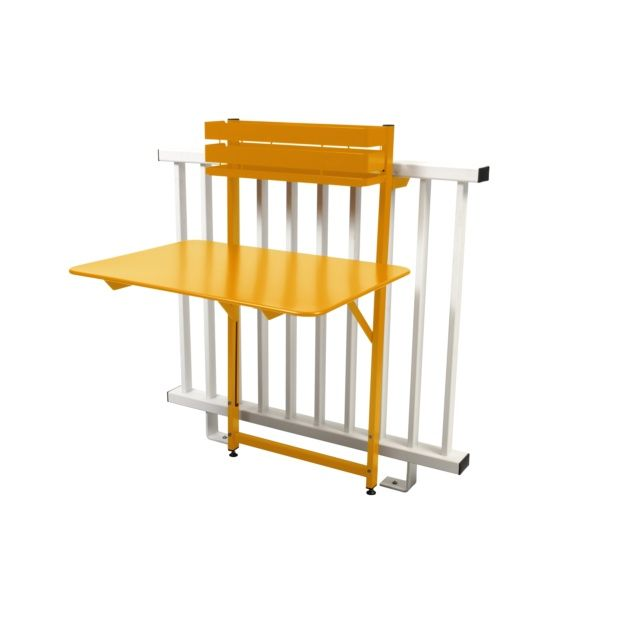 table de balcon pliante fermob bistro acier l77 cm miel plantes et jardins. Black Bedroom Furniture Sets. Home Design Ideas