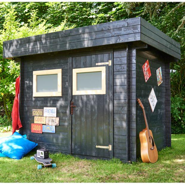 Abri de jardin bois 6 32 m ep 19 mm toit plat mikki plantes et jardins - Abri jardin toit plat m creteil ...