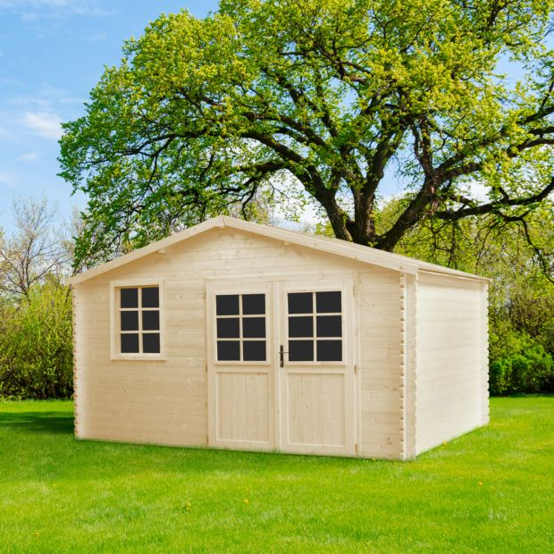 Abri de jardin bois 12 26 m ep 34 mm mirny plantes et for Abri jardin bois 12m2