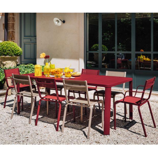 salon de jardin fermob ol ron 8 pers piment muscade plantes et jardins. Black Bedroom Furniture Sets. Home Design Ideas