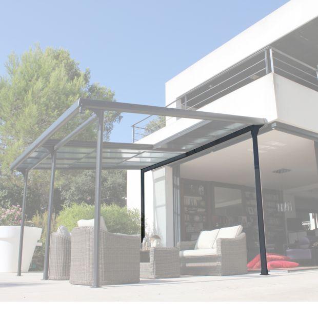 Tonnelle autoportante aluminium toit polycarbonate 4x3 5 m azura plantes et jardins - Tonnelle jardin 4x3 ...