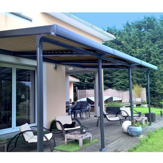 tonnelle adoss e aluminium lames orientables 3 5x6 m. Black Bedroom Furniture Sets. Home Design Ideas
