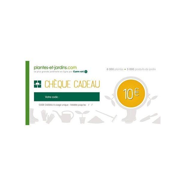 Ch que cadeau 10 euros valable sur tout le catalogue for Plantes et jardins com catalogue
