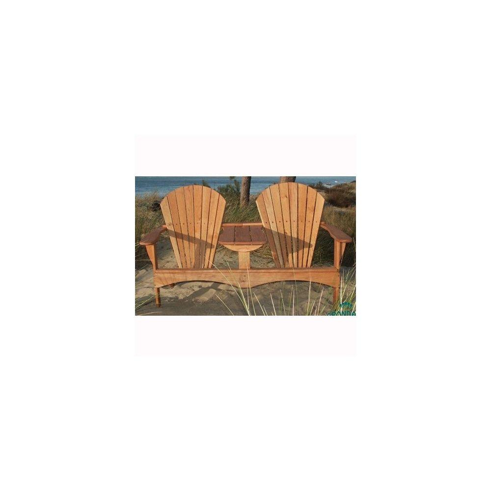 fauteuil double adirondack naturel plantes et jardins. Black Bedroom Furniture Sets. Home Design Ideas
