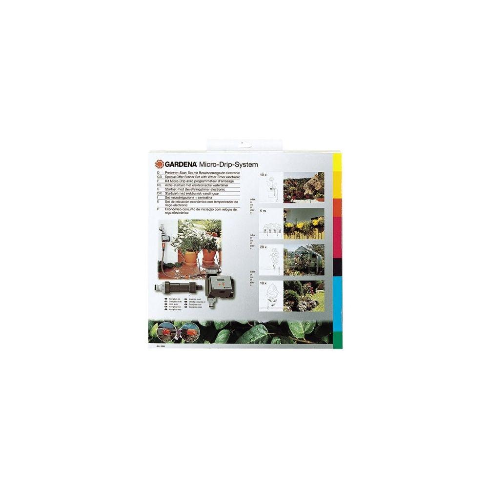 kit de base micro drip avec programmateur gardena plantes et jardins. Black Bedroom Furniture Sets. Home Design Ideas