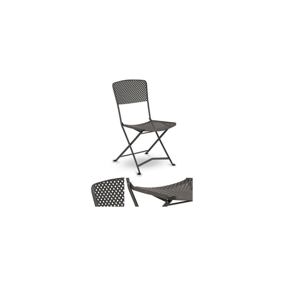 chaise ghibli pliante m tal tress plantes et jardins. Black Bedroom Furniture Sets. Home Design Ideas