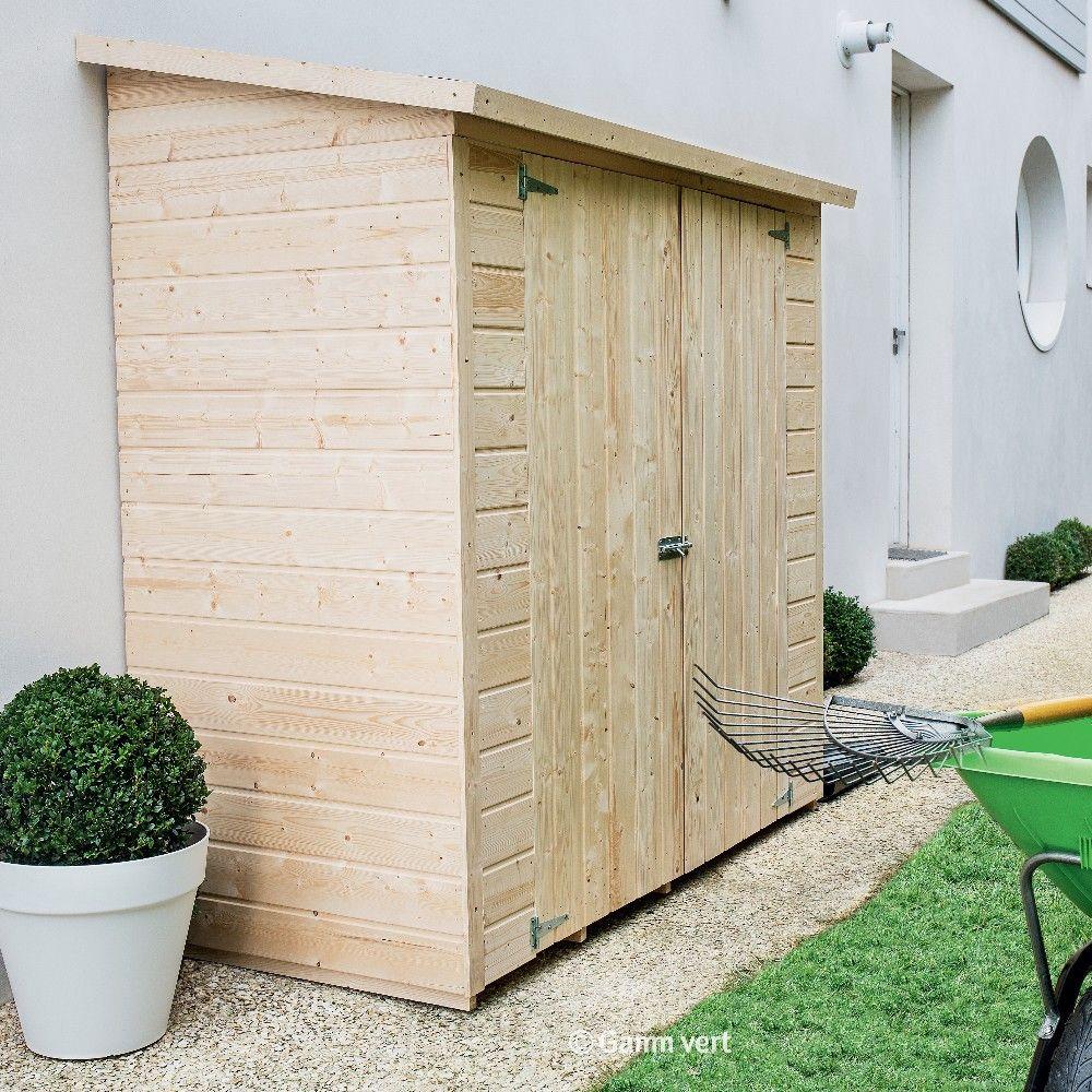 Remise adoss e bois l170 h180 cm plantes et jardins for Mini cabanon de jardin