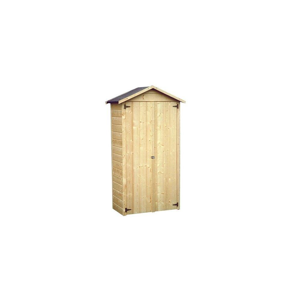 Armoire de jardin bois Arbae L105.5 H189 cm Ep.12 mm - Plantes et ...